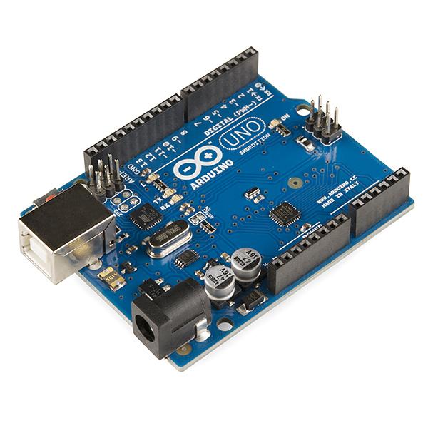 Arduino UNO. Portu asko dauka erraz konektatzeko