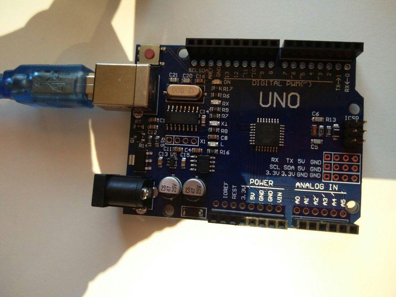 Arduino Uno txinatar bertsioa AT328P chiparekin